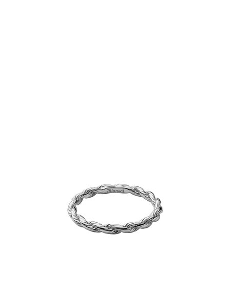 Miansai Rope Chain Ring - Sterling Silver