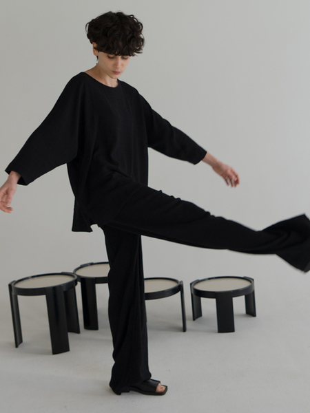Stephan Schneider Top Materials - Black Plaid