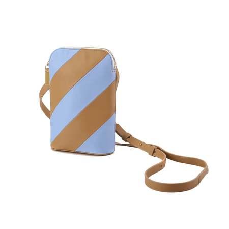 MATTER MATTERS Mini Hama shoulder bag - Tan/Forget me not