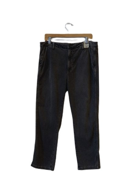 amo denim Easy Trouser Relaxed Crop Straight - Washed Black