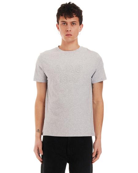 A.P.C. T-shirt with Print - Light Gray