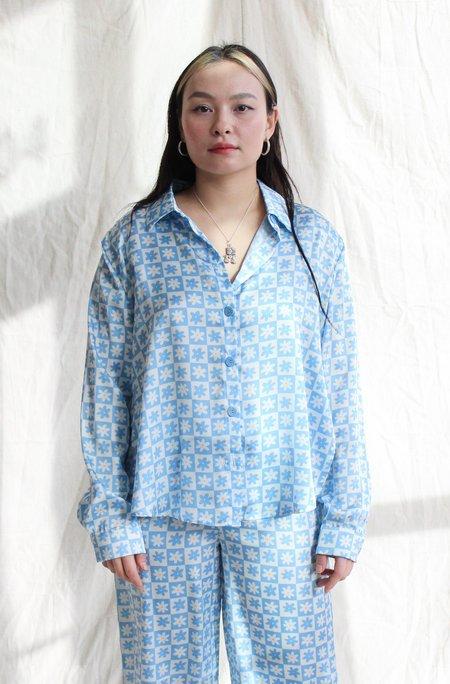 Lisa Says Gah Bailey PJ Top - blue