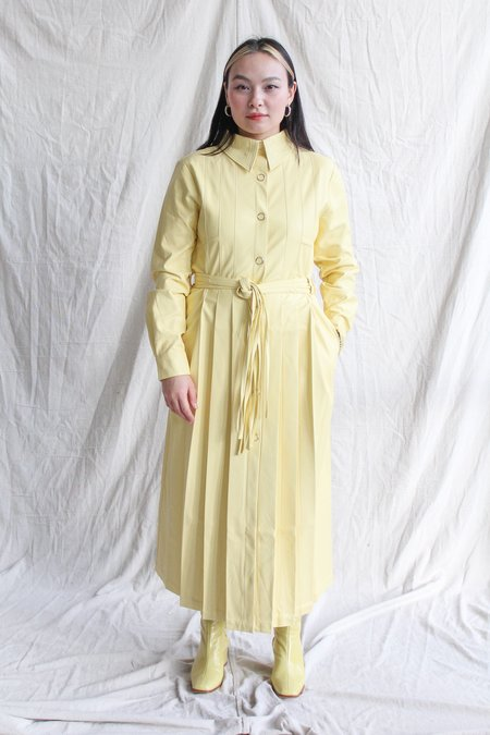 House of Sunny Perennial Shirt Dress - Lemon