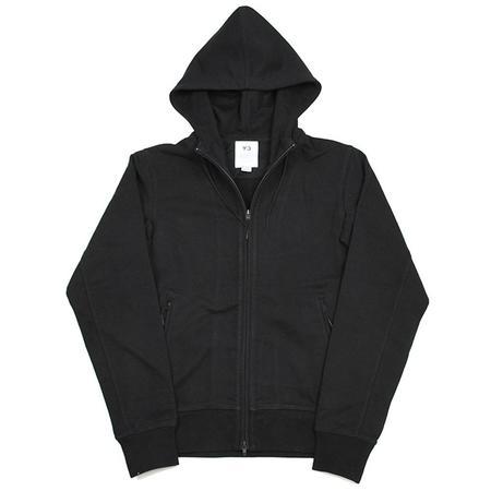Adidas Y-3 Logo Fullzip Hoodie - Black