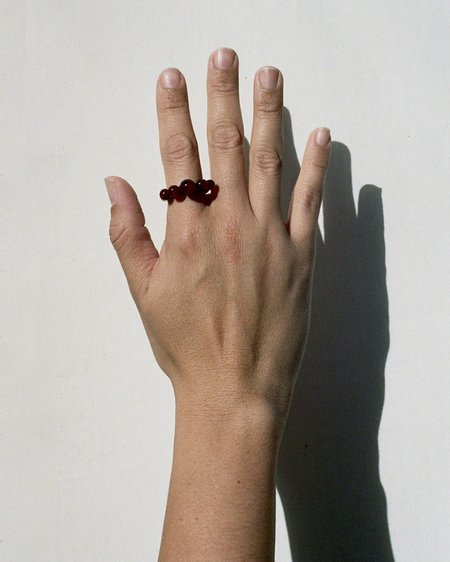 Tiana Marie Combes Relic Ring - Garnet