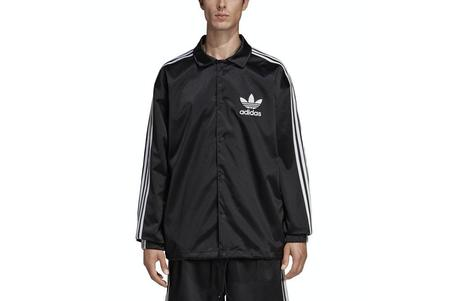 adidas Satin Coach DV1617 jacket  - Black/White