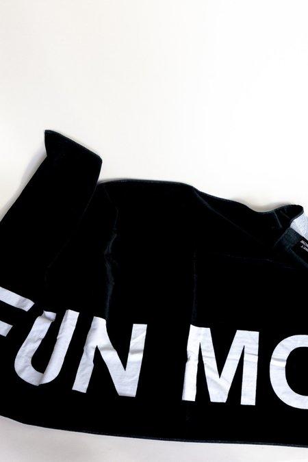 """INTENTIONALLY __________."" Fun Mom Beach Towel"