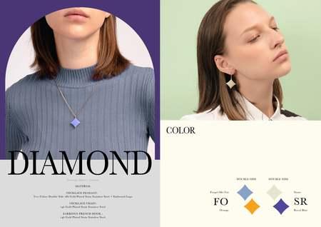 Matter Matters Diamond Earrings - Black/Maroon