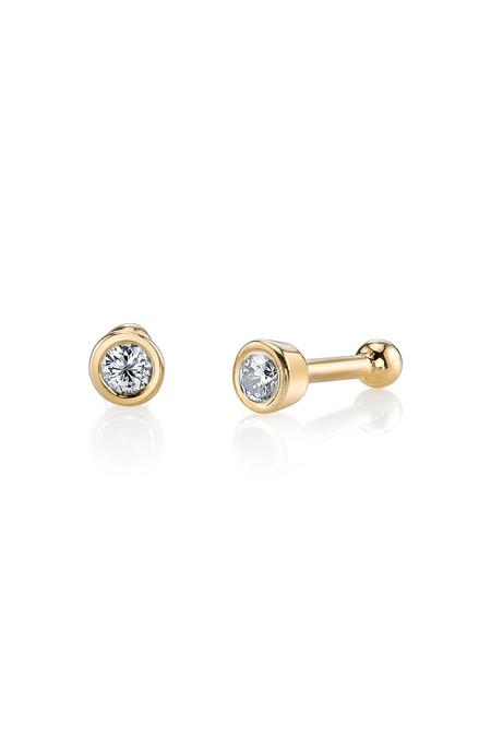 Gabriela Artigas 14k Yellow Gold Bezel Studs Earrings