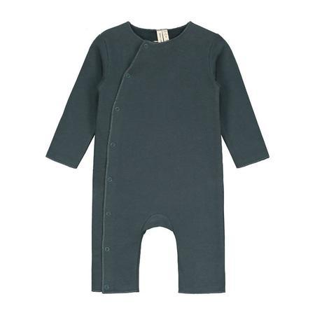 gray label baby suit - blue grey