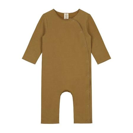 gray label baby suit - peanut