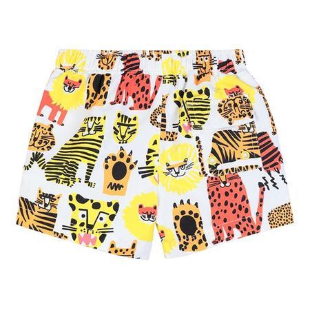 KIDS Stella McCartney Baby Swim Wild Cats Print Shorts - Multicolour