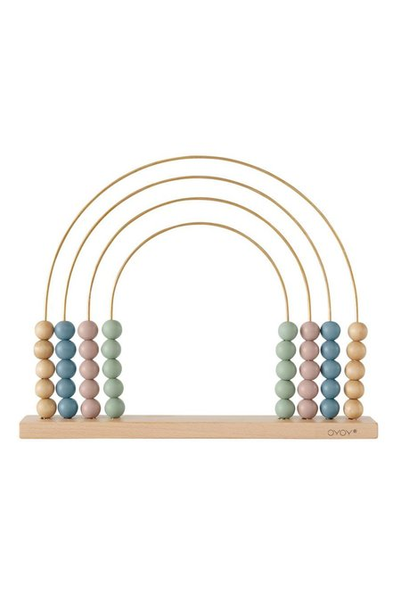 KIDS OYOY ABACUS RAINBOW TOY - NATURE