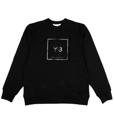 Adidas Y-3 Square Label Graphic Crew Sweatshirt - Black