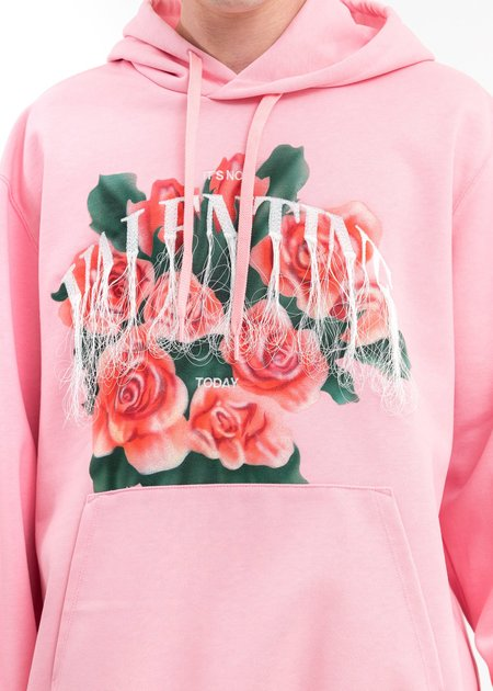 Doublet Not Valentine Embroidery Hoodie - Pink