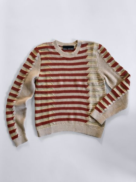 MILA ZOVKO NATALIA Sweater - Oatmeal/Rust/Gold
