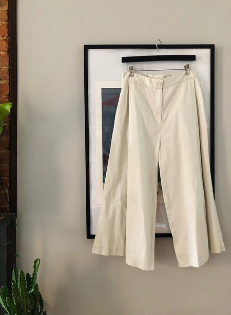 pre-loved Meg Pleated Culottes pants - white