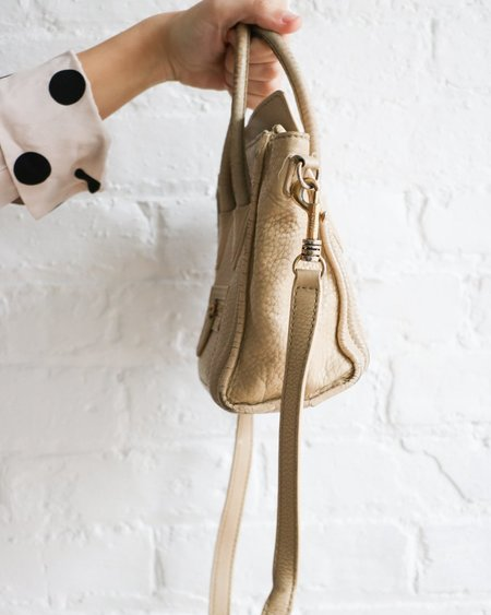 [pre-loved] Celine Nano Luggage Handbag - Taupe