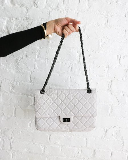 [pre-loved] Chanel 2.55 Reissue Flap Bag - White