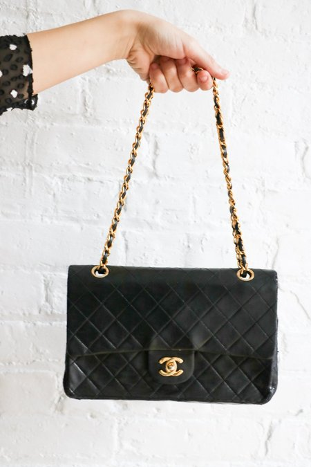 [pre-loved] Chanel Vintage Classic Double Flap Bag - Black