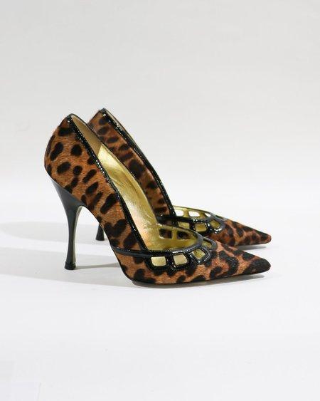 [pre-loved] Dolce & Gabbana Cutout Pumps - Leopard Print