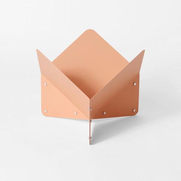 Peachy Folded Metal Vessel