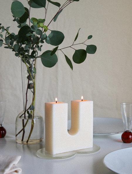 AACUTE Pillars Candle & Companion Dish