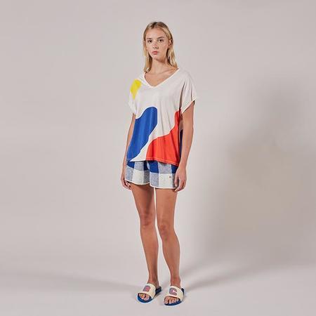 Bobo Choses Tee shirt With Landscape Print - Cream