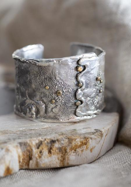Tamara Kelly Designs Reticulated Cuff - Sterling Silver/Brass