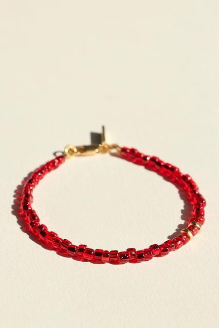 BRIE LEON Bonita Bead Bracelet - Crimson