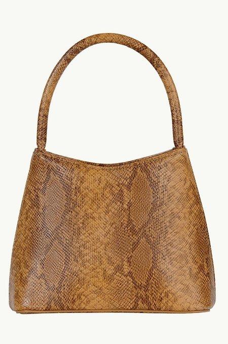 BRIE LEON The Mini Chloe Snake Skin Bag - Desert Orange