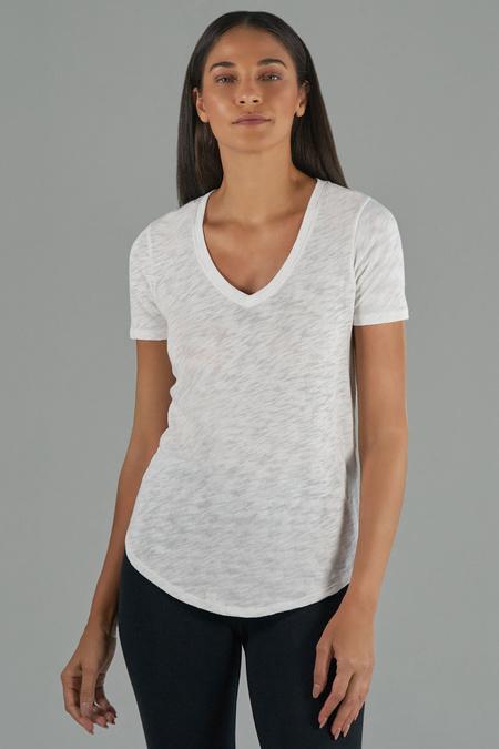 ATM Short Sleeve V-Neck Tee - White
