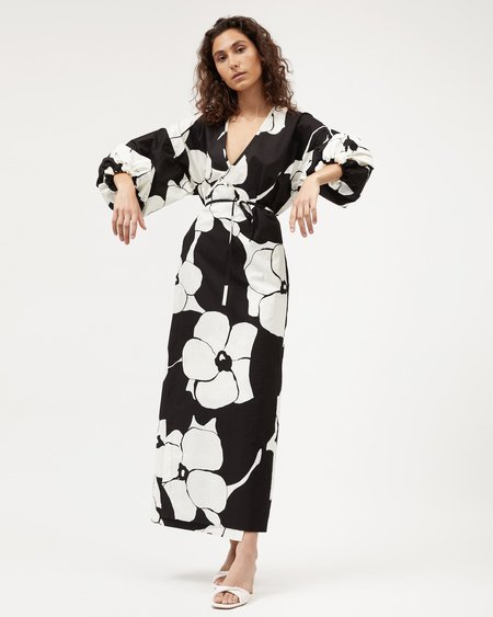 BEFORE MARCH Tilly Wrap Dress - Bold Floral