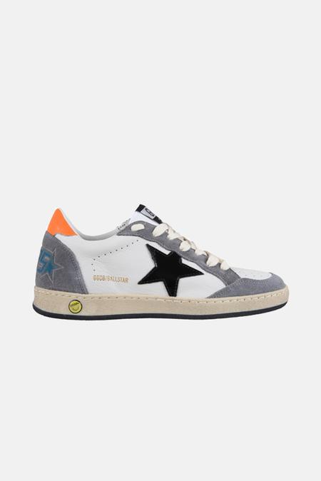 Golden Goose Ball Star Shoes - White/Grey/Orange