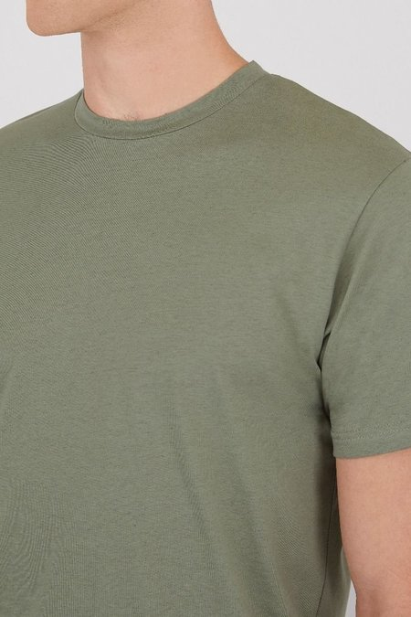 Sunspel Organic cotton riviera t-shirt - light khaki melange