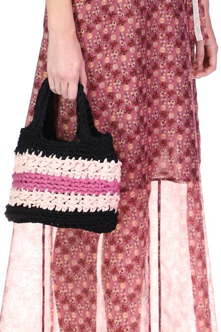 Anna Sui Crochet Bag - Raspberry
