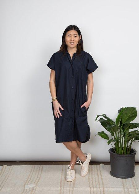 SBJ Austin R Dress - Navy Poplin