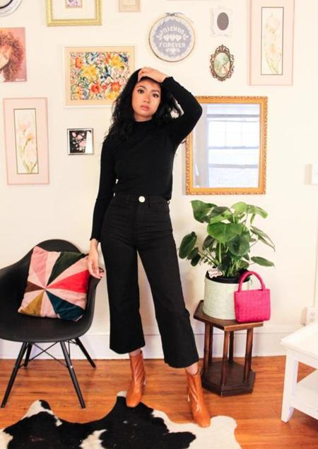 Whimsy + Row Gigi Top - black