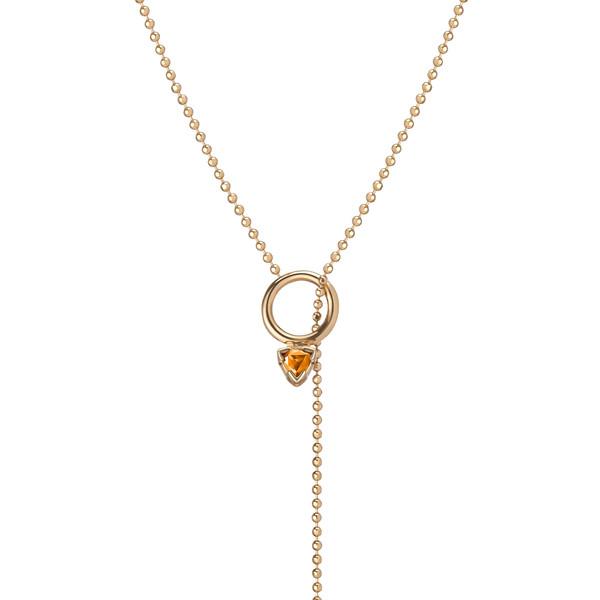 Shahla Karimi 14K Gold Birthstone Lariat