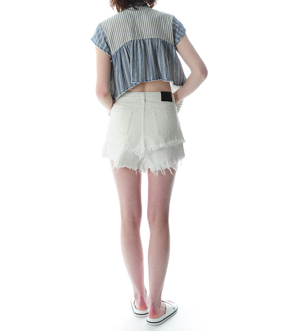 Sea NY Pintucked Button Up Blouse