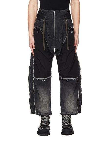 Hamcus Contrasting Patchwork Cargo Jeans - Grey