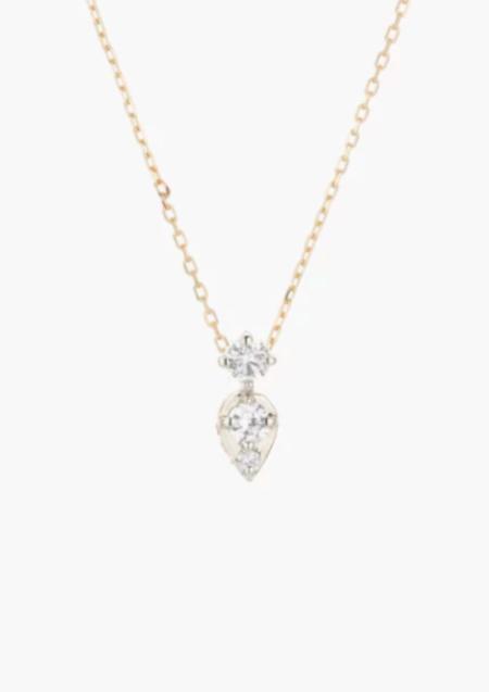Adina Reyter 2 Diamond Jumble Necklace - 14k yellow gold/0.08 ct