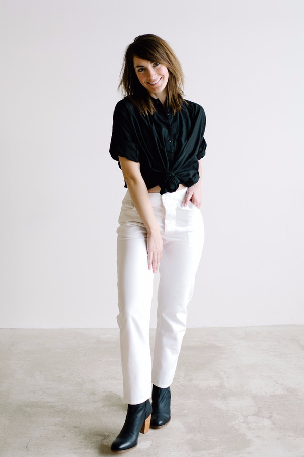 Hackwith Design House Skinny Pant - Ivory