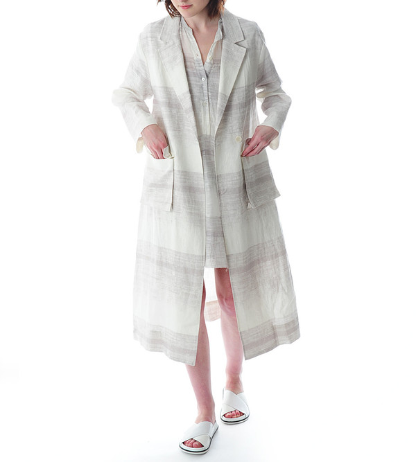Raquel Allegra Printed Trench Coat
