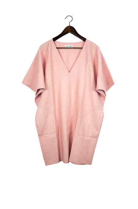 Rachel Craven Textiles Short V Neck Caftan - Dusk Linen