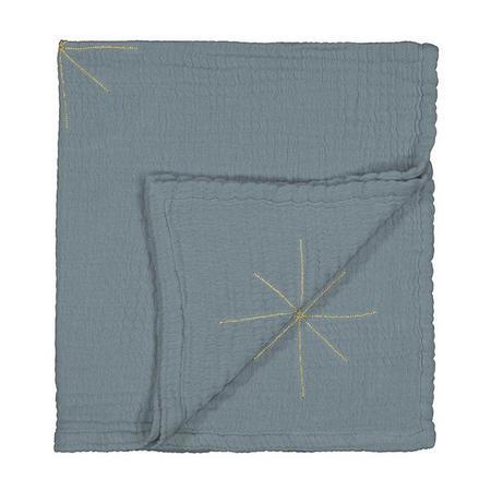 KIDS Moumout Paris Panpan Embroidered Gold Stars Blanket