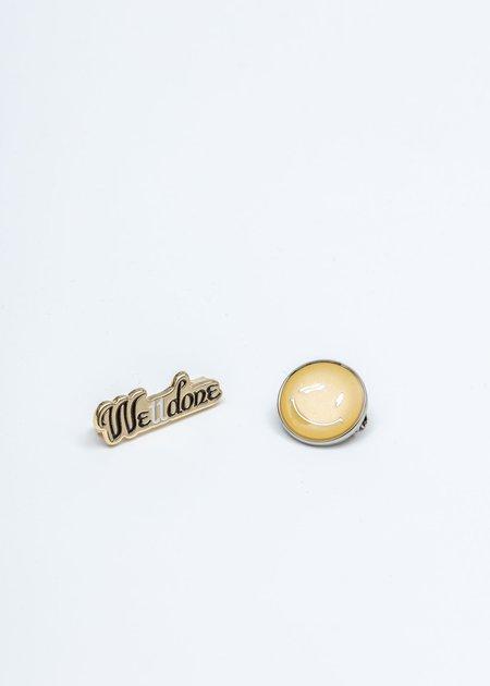 We11done Smile Brooch Set - Gold