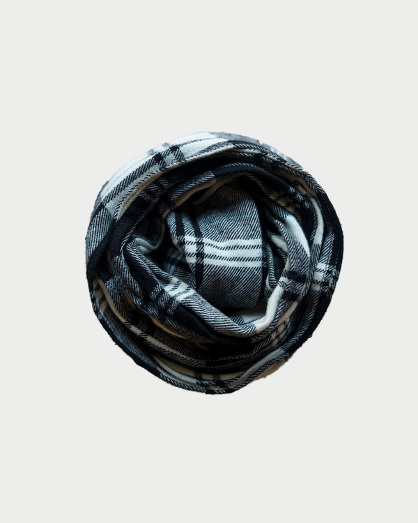 esby PLAID SMALL SCARF -  BLACK/WHITE