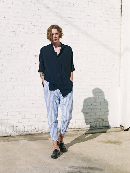 Casey Casey Seersucker Pajama Stripe Zwag Double Pant - Blue