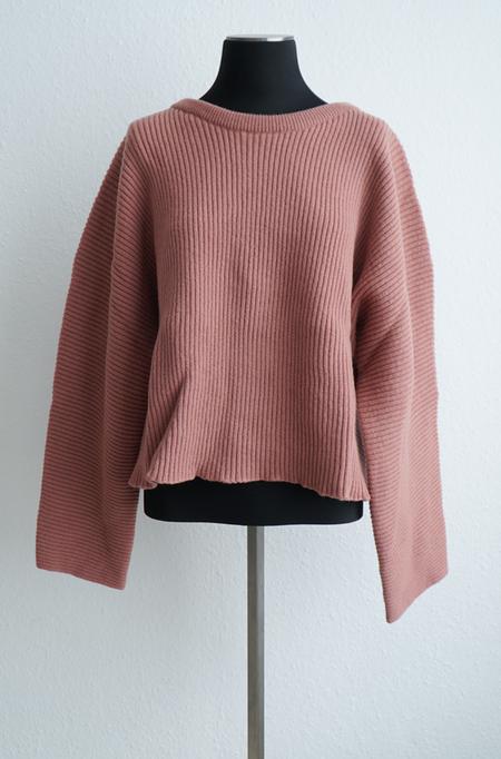 Baserange Kai Sweater in Merinos Wool Rib - Cinnamon